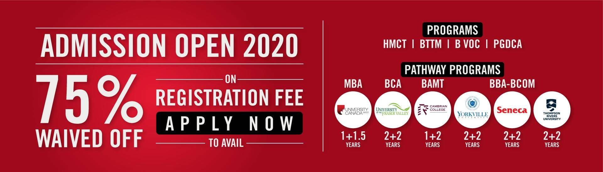 Admission Open | Apply Now