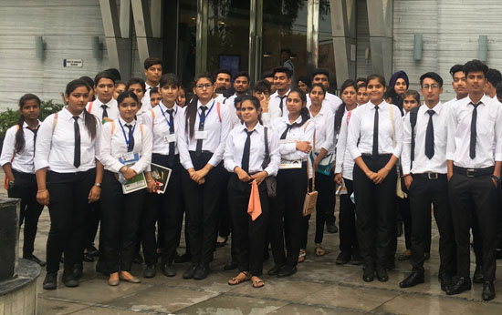 Students visited Best Western Hotel